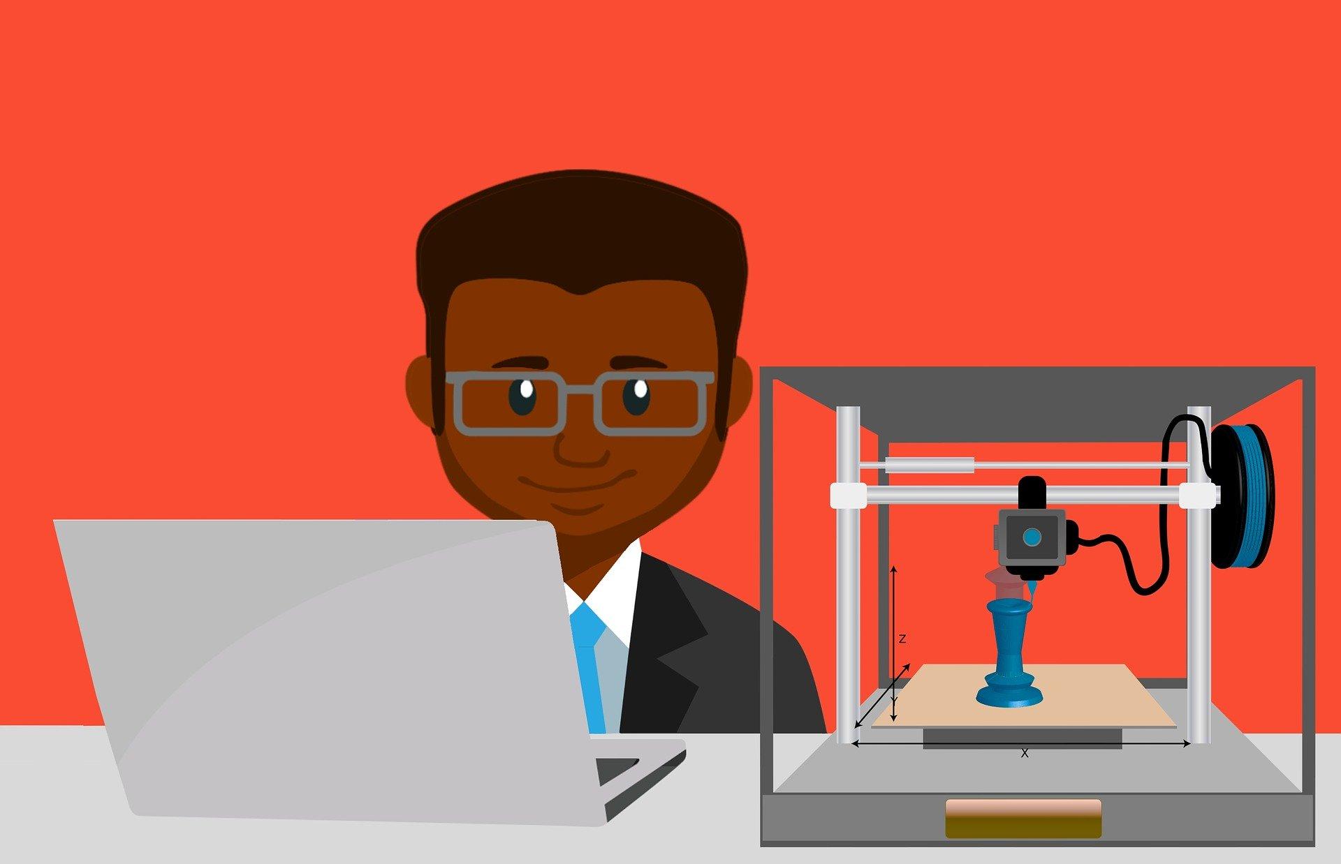 Icono curso de manejo de impresora 3D